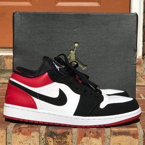Air Jordan Retro 1 Black Toe Low Released 4-1-19
